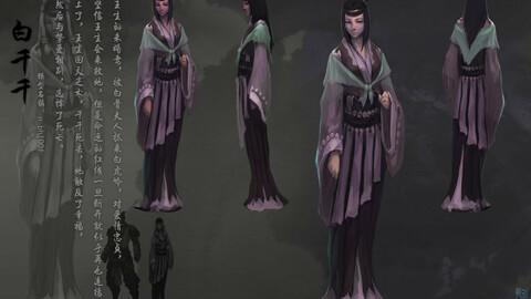 Low poly 3D Women - Bai Zhiqian