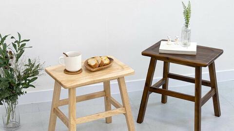 Mine Solid Wood Stool Chair Acacia
