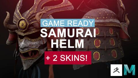 SAMURAI HELM (Gameready asset) + 2 skins