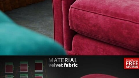 Velvet Material V-RAY (animations and photos)