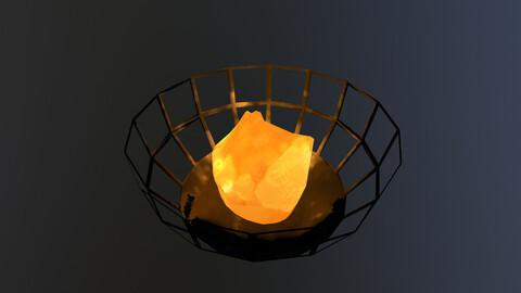 Low Poly Fire Bowl 3D Model free