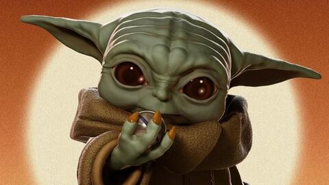 Baby Yoda (Grogu) statue