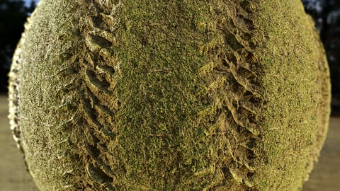 PBR - TRACTOR  TRACKS ON THE GRASS, FIELD, TRACE, PRINTS - 4K MATERIAL