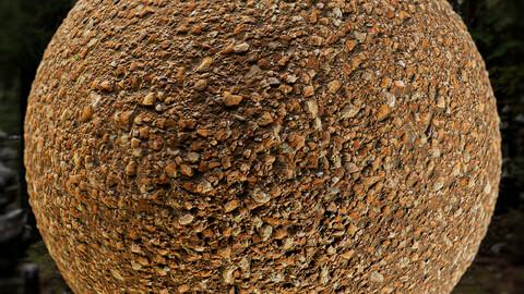 PBR - SOIL OF SMALL PEBBLES, GROUND, TERRAIN - 4K MATERIAL