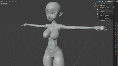 Base Anime Mesh Female