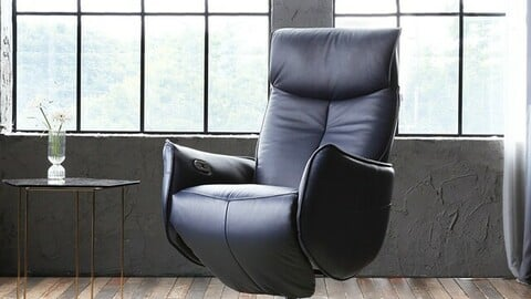 Hector Genuine Cotton Leather Electric Recliner Single Seater Sofa