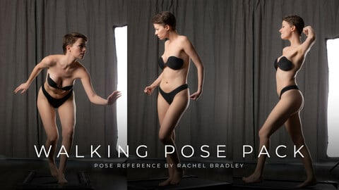 Walking Pose Pack - Pose Reference for Artists