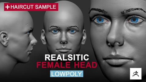Realistic Female Head Highpoly