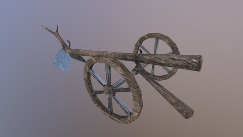 Low Poly Hoe 3D Model