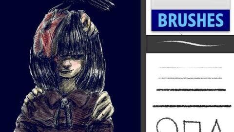 Free Pencil Brush / Pincel de Lápis gratuíto