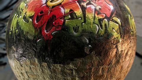 PBR - BEAUTIFUL GRAFFITI WALL 1 - 4K MATERIAL