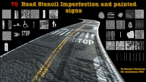 70  Road Stencil Imperfection and painted sign