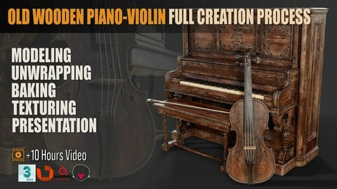 Old Wooden Piano-Violin Full Creation Process