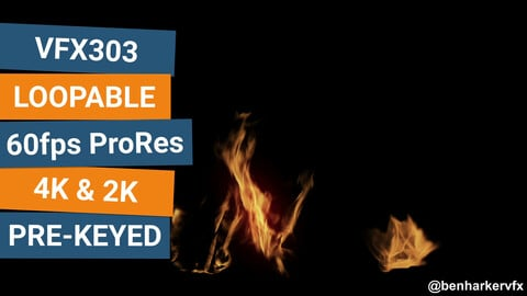 VFX303 - Loopable Ground Fire VFX Asset