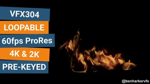 VFX304 - Loopable Ground Fire VFX Asset