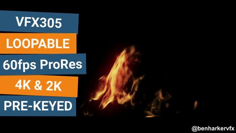 VFX305 - Loopable Ground Fire VFX Asset