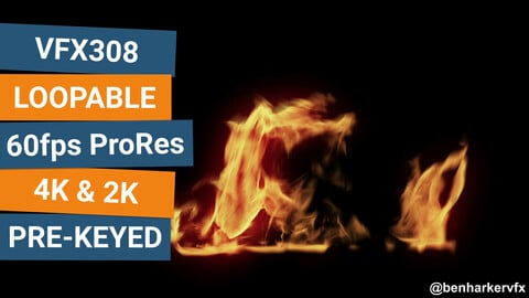 VFX308 - Loopable Ground Fire VFX Asset