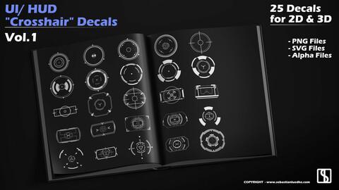 "Ui/HUD ""Crosshair"" Vector Decals Vol.1"