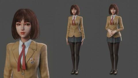 Girl in Uniform Blender file