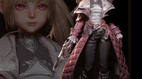 MMORPG character - Blender file