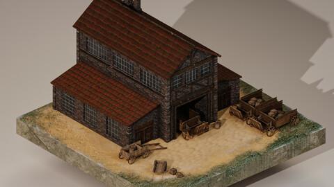 Medieval Cargo Building 3D Model