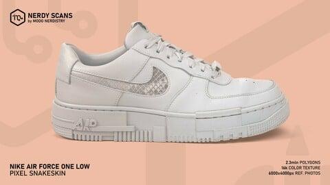 Nike Air Force 1: Pixel Snakeskin Scan. 2.3mln + 16k color