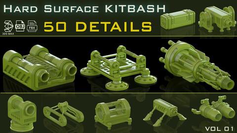 Hard Surface kitbash_VOL.01