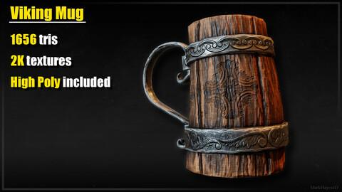 Viking Mug - Game Ready PBR Prop