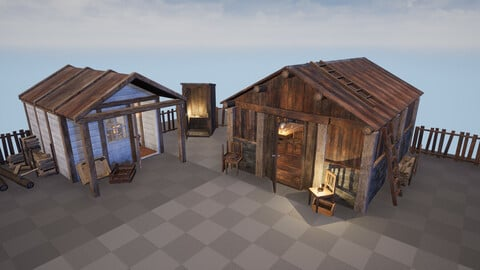 Modular Huts Asset