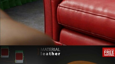 Leather Material V-ray (animation and photos)