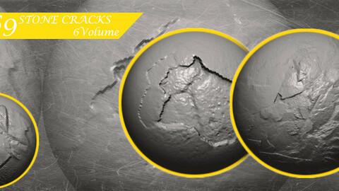 Stone Cracks Brushes 6 Volume
