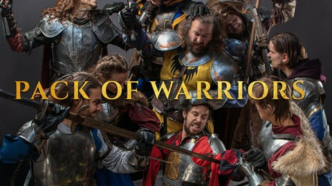 Pack of Warriors-  Photo reference pack for artists (Knights & Musketeers)