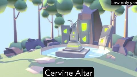 Cervine Altar - low poly game level