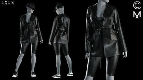 Women's Leather Belted Jacket (Genesis8 avt)