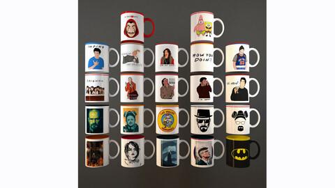 24 Free mugs of popular series