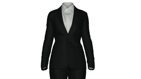 Women's tailored pant suit CLO3D/Marvelous project file