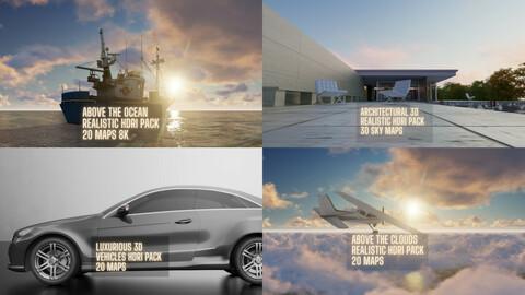 120 maps 3D CG CHOCO HDRI PACK BUNDLE (Save 140$) for Archviz, Automotive, Cinema, Products