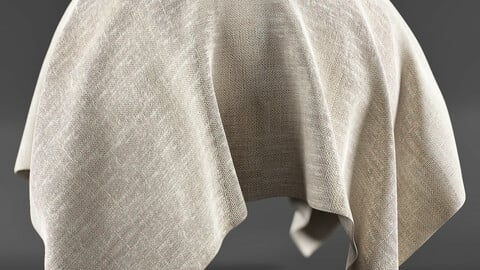 PBR - FABRIC PLANE WHITE, BEIGE, FORNITURE - 4K MATERIAL