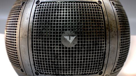 PBR - FLOOR DRAIN GRATE V2 , WATER, COVER - 4K MATERIAL