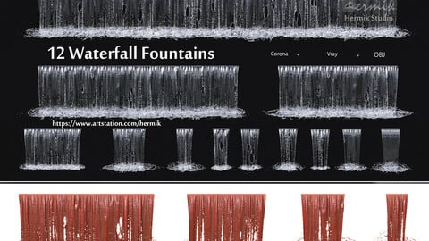 collection waterfall Fountains cascade - 12
