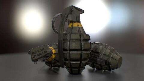 Hand Grenade MK2 3D Model