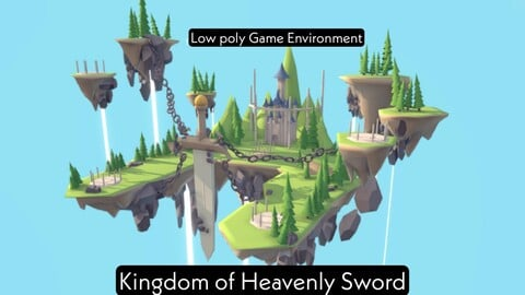 Kingdom of heavenly sword - fantasy island game environment
