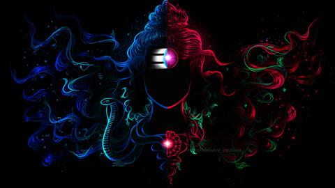 Shri Ardhnarishwar digital art