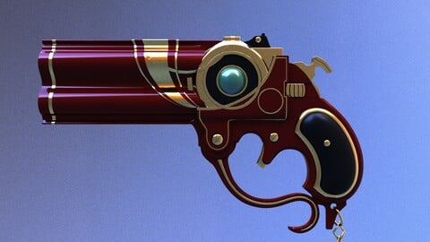 Bayonetta Gun lowpoly model