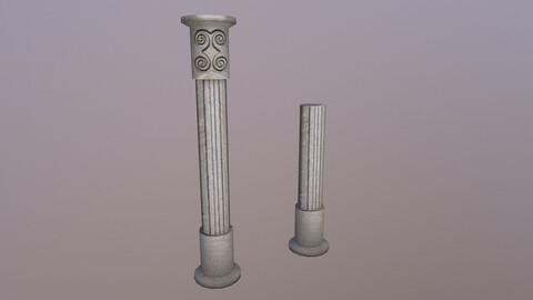 Low Poly Roman Column 3D Model