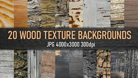 20 wood, tree material texture backgrounds, reference photo set.