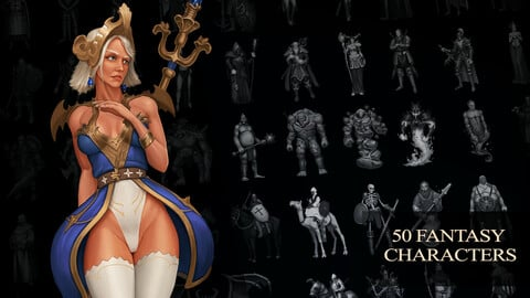 Fantasy Characters 4k