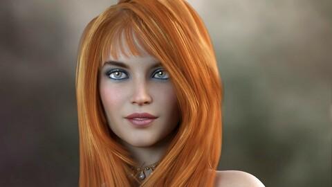 Jeanie Hair for Genesis 8 Females