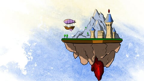 Mage's flying island