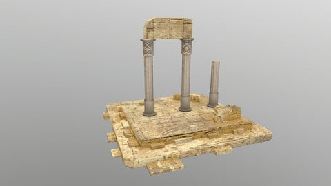 Low Poly Ruins 2 3D Model